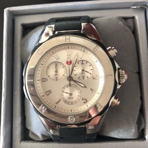 Michele Accessories - Michele Tahitian Jelly Bean Silver Plated Watch